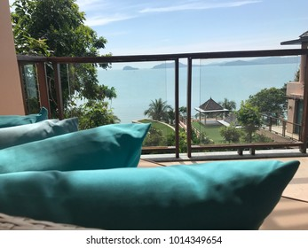 Look at the sea on holiday in Phuket