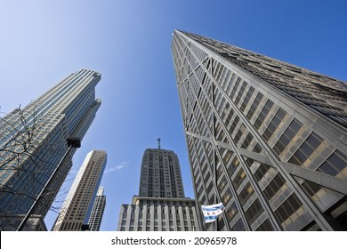 Look Up - skyscrapers in Chicago