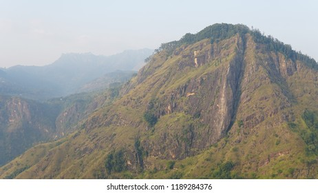 A look towards the Ella Rock in Ella, Sri Lanka.