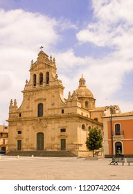 A look at a typical religious building in Sicily, Italy.