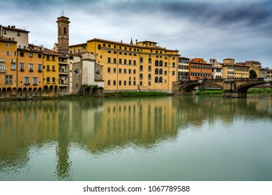 Looking across the Arno river in Florence