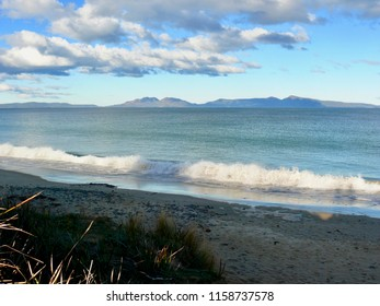 Looking across Coles Bay from Swansea to Freycinet Peninsula