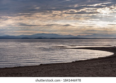 Looking across Lake Champlain towards Vermont from Ausable Point, New York USA