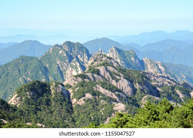 Looking at the beautiful landscape from the top of Huangshan Mountain in Huangshan City, Anhui Province,  China, China.