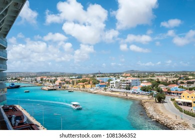 Looking at Bonaire Harbor from a Cruise Ship
