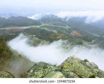 Looking clouds from the above. Pinnacle lookout in Cumberland Gap in Tennessee.