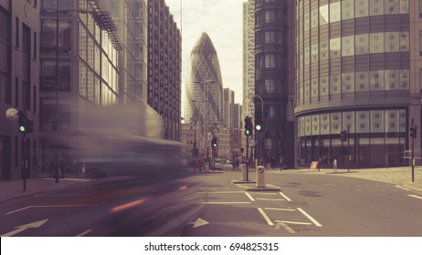 Looking Down Bishopsgate A10 London, Long Exposure London Street Photography