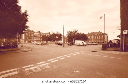 Looking Down Brunswick Square C York Street Bristol England Long Exposure Photography Motion Blur Sepia Tone