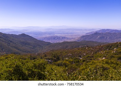 Looking down at Fern valley in Idyllwild, California.