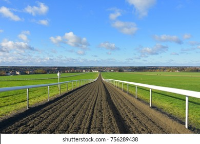 Looking down the gallops on Newmarket heath, Suffolk