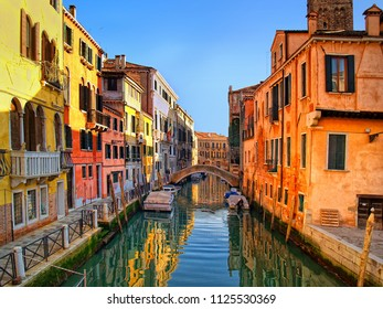 Looking down the Grand Canal Venice Italy