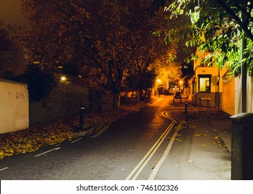Looking Down Hope Chapel Hill Bristol by night A, English Urban Autumn Night Photography