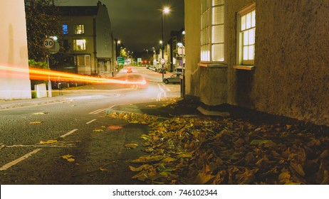 Looking Down Hope Chapel Hill Bristol by night B, English Urban Autumn Night Photography