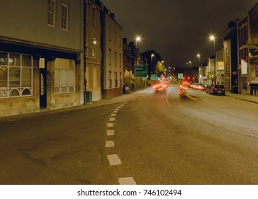 Looking Down Hotwell Road Bristol by night, English Urban Autumn Night Photography