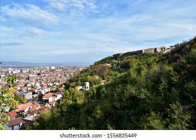 Looking down on the city of Prizren, Kosovo