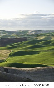 Looking down onto farm fields from Steptoe Butte