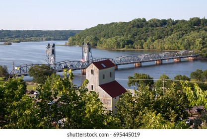 Looking down over the St. Croix River from Stillwater, MN