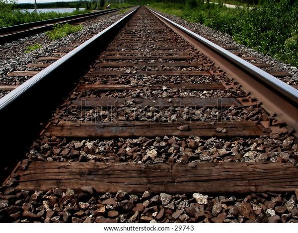 Looking down the railway tracks