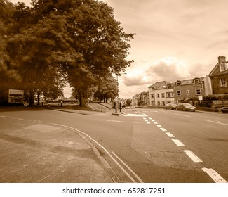 Looking Down Redland Road C Bristol England Long Exposure Photography Motion Blur Sepia Tone