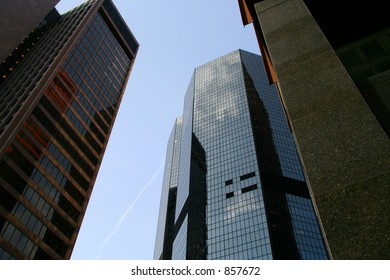 Looking up in downtown Pittsburgh