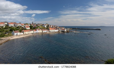 Looking east over the Fife village of Pittenweem on a sunny summer's day