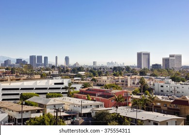 Looking east towards Century City and downtown Los Angeles from West LA