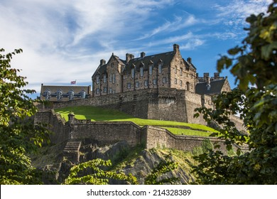 Looking up the hill at Edinburgh Castle. Edinburgh Castle