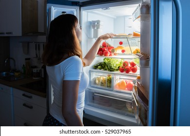 Looking Inside Refrigerator