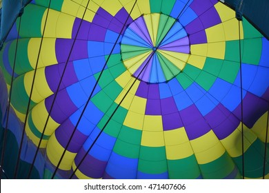 Looking up into a Hot Air Balloon