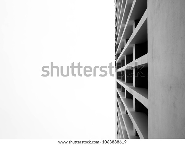 Looking Modern Concrete Building Rhythm Fin Stock Photo Edit Now 1063888619
