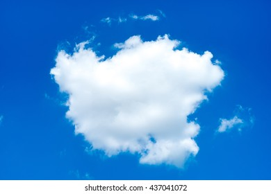 Looking up at Nice blue sky with cloud, nature background