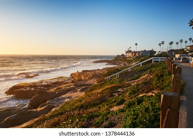 Looking Northward on the La Jolla, California, coast at Windansea Beach