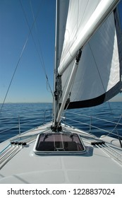 Looking off the Bow of a sailboat.