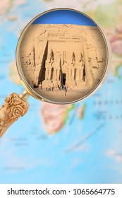 Looking in on Abu Simbel through a magnifying glass in Egypt, Africa