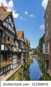 Looking on to the River Stour in Canterbury, Kent