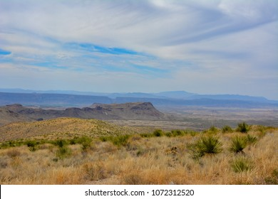 Looking out across the desert landscape in Big Bend National Park in Southwest Texas.