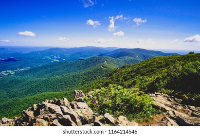 looking out over the blue ridge mountains
