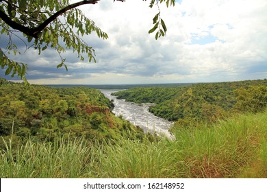 Looking out over Murchison Falls National Park in Uganda.