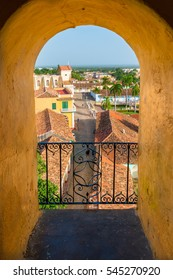 Looking out over the Spanish colonial rooftops of Trinidad, Cuba.