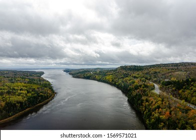 looking out from the penobscot narrows observatory in autumn