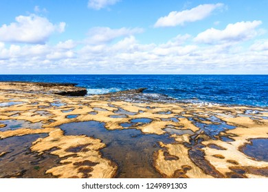 Looking out to sea over the rock pools, Shark Point, Clovelly, New South Wales, Australia