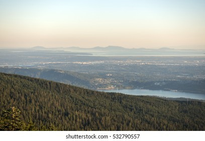 Looking out to Vancouver and the lower mainland from Mt. Seymour Provincial Park, North Vancouver, British Columbia, Canada