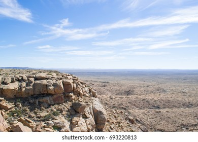 Looking over the Arizona desert from the top of a mesa in the Hopi reservation.
