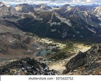 Looking over the Cayoosh Range from Gotcha Peak in British Columbia.