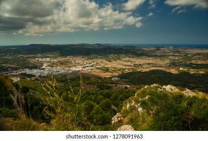 Looking over Menorca, from Monte Toro