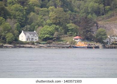 Looking over to Port Askaig, Islay from Isle of Jura - Scotland