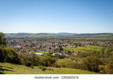Looking over small town sonoma