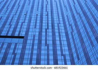 Looking up the side of a skyscraper