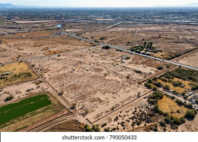 Looking to the Southeast from above the Cemetery on the Salt River Pima-Maricopa Reservation
