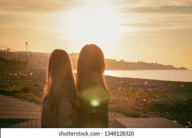 Looking the sunset